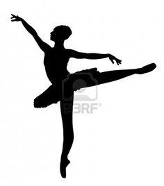 Silueta de una bailarina de ballet