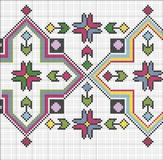 Discover thousands of images about Motif Cross Stitch Pillow, Cross Stitch Borders, Cross Stitch Designs, Cross Stitching, Cross Stitch Patterns, Folk Embroidery, Ribbon Embroidery, Cross Stitch Embroidery, Embroidery Patterns