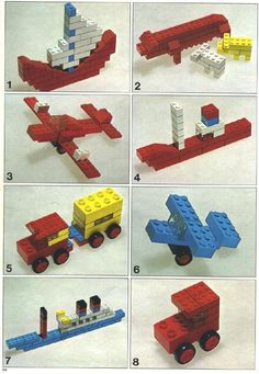 LEGO 221 Idea Book instructions displayed page by page to help you build this amazing LEGO Books set Lego Duplo, Lego Therapy, Lego Basic, Modele Lego, Lego Books, Construction Lego, Van Lego, Lego Challenge, Lego Club