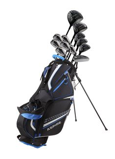 19 Piece Men's Complete Golf Club Package Set with Titanium Driver, 3 Fairway Wood, 3-4-5 Hybrids, 6-SW Irons, Putter, Stand Bag, 5 H/C's - Choose Options! (This is an affiliate pin) Mens Golf Clubs, Golf Clubs For Sale, Best Golf Club Sets, Golf Club Reviews, Famous Golfers, Honma Golf, Golf Wedges, Cleveland Golf, Pieces Men