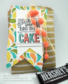 Dec 2014 Control Freak Blog Tour, sharing creations from the new 2015 Occasions Catalog and Sale-a-Bration Brochure, New Mini Treat Bag Die, New SAB Big Day stamp set, created by Dawn Olchefske, #dostamping #stampinup