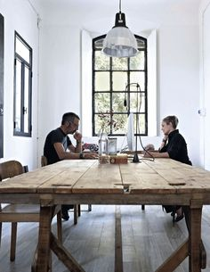 nice rustic office or dining table