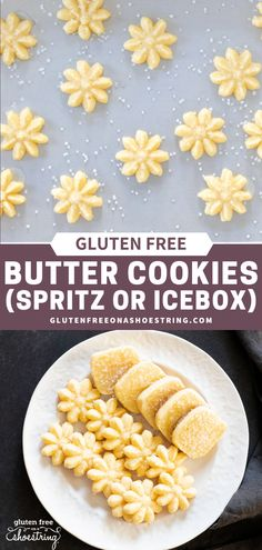 This gluten free butter cookie recipe makes the BEST holiday cookies, every time! Perfect icebox or spritz cookies that hold their shape and can be fancy or simple. In fact you can even make this cookie dough in your food processor! These beautiful little cookies are a classic favorite and make perfect Christmas gifts, too! #christmascookie #glutenfreecookie #iceboxcookies #spritzcookies #easyrecipe