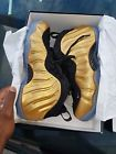 nike air foamposite gold brand new size 11