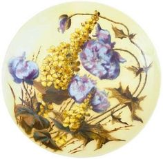 Zsolnay - Ornamental plate with poppies, Zsolnay , around 1880 Poppies, Decorative Plates, Auction, Ornaments, Tableware, Vases, Art, Wood, Archive