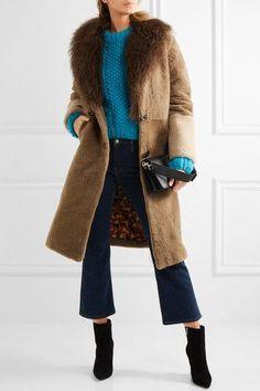 Joseph - Luke Shearling Coat - Black   Coats, Products and ...
