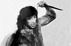 Stallone Movies, John Rambo, First Blood, Sylvester Stallone, Demons, Sketch, Pencil, Statue, Film