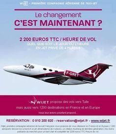 Le changement, c'est maintenant. Une compagnie de Jet Privé utilise la bourde de F. Hollande.