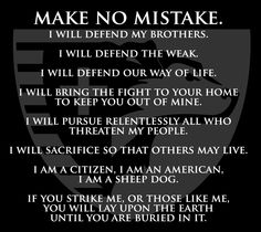 Sheep Dog IA - Make No Mistake Tshirt | Sheep Dog IA Gear