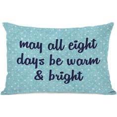 """All Eight Days"""" Indoor Throw Pillow by OneBellaCasa, 14""""x20"""