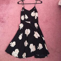 Black floral dress Black floral dress worn once Old Navy Dresses