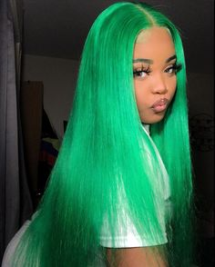 Cute Hair Colors, Green Hair Colors, Hair Dye Colors, Weave Hair Color, My Hairstyle, Wig Hairstyles, Casual Hairstyles, Medium Hairstyles, Latest Hairstyles