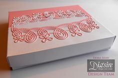 Debra Shaw - Create a Card -Wrap Around dies: Georgia -Pink and White Centura Pearl - Collall Tacky glue - Stick it sheet - Easy Crystals - #crafterscompanion