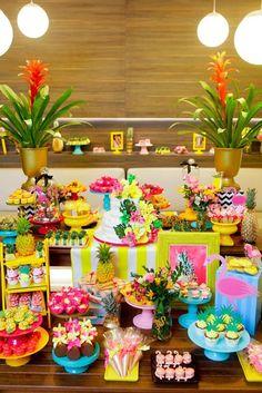 Decoração de Festa Havaiana modelos para inspirar