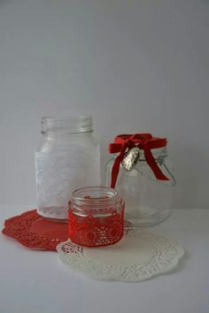 Lace jars, various available :)
