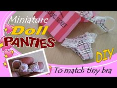 Video tutorial on making a miniature pair of panties. There is another one on making a bra, and the suggested videos beside it on YouTube as well as the related pins on Pinterest would keep me busy for months if I started making things instead of just pinning them.
