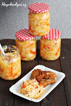 Čalamáda ze zelí - Powered by Fermented Foods, What To Cook, International Recipes, Food To Make, Food And Drink, Cooking Recipes, Yummy Food, Homemade, Canning