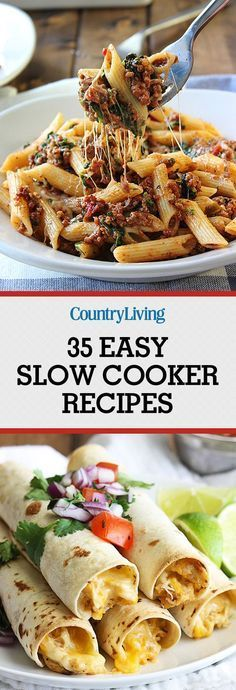 Easy Slow Cooker Recipes for Busy Nights - Best Crock Pot Recipes Crock Pot Food, Crockpot Dishes, Crock Pot Slow Cooker, Best Crockpot Meals, Crock Pots, Crockpot Ideas, Fast Crock Pot Recipes, Slow Cooker Freezer Meals, Slow Cooker Tacos