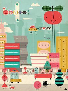 I love New York. Disseny d'Eric Comstock. Ideal per a una habitació infantil!