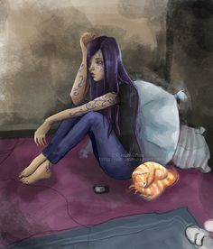 Zoey Redbird and Nala by ViBlue House Of Night, Aurora Sleeping Beauty, Fan Art, 13 Reasons, Fairies, Image, Books, Faeries, Libros