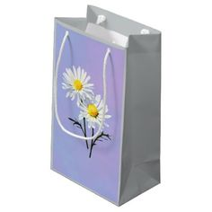 Shop A Couple of Daisies Small Gift Bag created by SusanSavad. Small Gift Bags, Small Gifts, Fuzzy Chair, Holiday Cards, Christmas Cards, White Elephant Gifts, Business Supplies, Daisies, Party Time