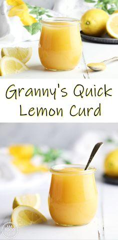 Easy Lemon Curd, Lemon Curd Recipe, Lemon Recipes, Lemon Desserts, Vegan Recipes Easy, Sweet Recipes, Dessert Recipes, Recipes Using Lemon Curd, Lemon Curd Uses