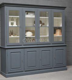 Schoolkast   Old BASICS Kitchen Dresser, Kitchen Furniture, Larder, Repurposed Furniture, Furniture Makeover, China Cabinet, Cupboard, Home And Garden, New Homes