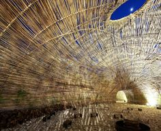 """Marco Casagrande's Gorgeous Bamboo """"Cicada"""" Pavilion Snakes its Way Through Urban Taipei 