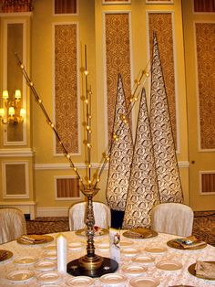 Venetian table centerpiece and inflatable cones.  See more: http://www.theig.com