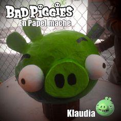 #badpiggies #papelmache #reciclaje #niños #niñofeliz
