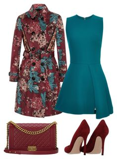 """""""Eimhear93 on Polyvore"""" by eimhear93 on Polyvore featuring Burberry, Elie Saab, Gianvito Rossi and Chanel"""