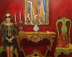 Original Painting Sustainably Susan by CatherineNolinArt on Etsy, $575.00