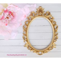 On Ornate Baroque Frame Hollywood Regency Gold Oval Paris 45