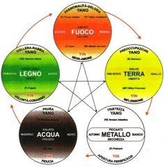 La Teoria dei Cinque Movimenti, Yin e Yang, San Jiao ed i Meridiani