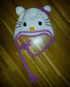 Hello kitty crocheted beanie baby