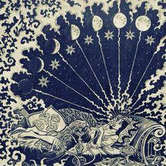 Illustration from the comic Haibi by Craigh Thompson, http://www.amazon.com/Habibi-Craig-Thompson/dp/0375424148 #moon phases