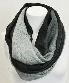 Take a look at this Black Ombré Infinity Scarf by Leto Collection on #zulily today!