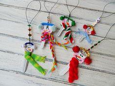 Recycled Key Snowman Ornaments - CraftsbyAmanda.com