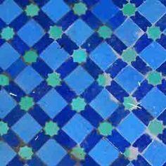 zellige wall mosaic in Fez hotel