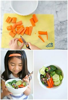 Easy Vietnamese Pork Rice Bowl. Made with kids.