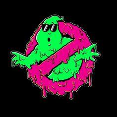 Camiseta Los Cazafantasmas. Logo derretido