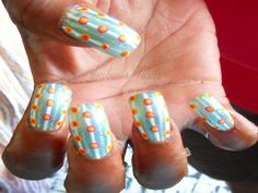 Stripes And Dots. Did This For My Aunt...She Picked All The Fun Colors!