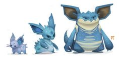 DAY 448. Kanto 029 - 030 - 031 by Cryptid-Creations on deviantART