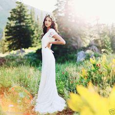 Vintage-Sheath-Short-Sleeve-Lace-Wedding-Dresses-Formal-Bridal-Ball-Gowns-Custom