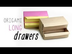 Origami Drawers Tutorial - Long Version ♥ - YouTube