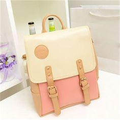 2016 New Vintage PU Leather Travel Shoulder Women Satchel Backpack School Bag High Quality Free Shipping P108 mochila bolsas