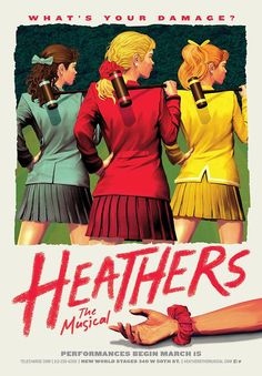 Heathers the Musical - saw this on Sunday. So, so funny! My friends say it's very close to the movie. The songs are super funny and catchy too.