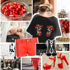 red by myduza-and-koteczka on Polyvore