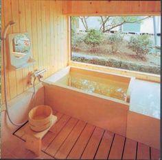 24 Ideas For Bathroom Lighting Diy Window Treatments Asian Bathroom, Bathroom Spa, Bathroom Interior, Bathroom Ideas, Wood Bathroom, Bathroom Cabinets, Bathroom Renovations, Garden Bathtub, Japanese Bathtub