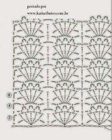 Blusa em crochê com sugestão do ponto utilizado - Katia Ribeiro Crochê Moda e Decoração Crochet Stitches Patterns, Stitch Patterns, Projects To Try, Diy Crafts, Quilts, Blanket, My Favorite Things, Rugs, Knitting